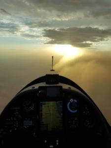 Sandsturm im Endanflug