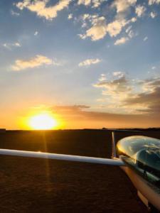 Landung bei Sunset